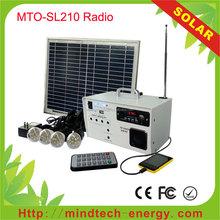 10 watt solar panel system kit with battery for backup