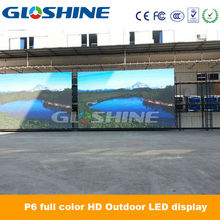P6 high definition outdoor SMD waterproof led wall LED video screen