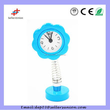 mini alarm clock with spring flower design
