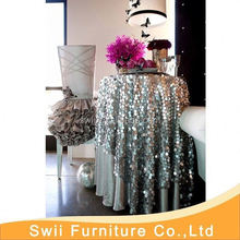 round decorative table cover Factory Price Jacquard Table Cloth plastic pvc dining table cover