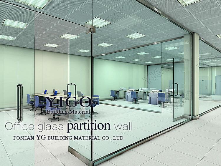 Modern Office Partition Glass Wall. Glass Door