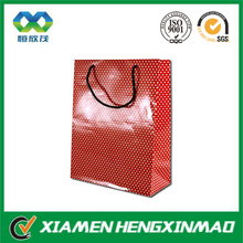 High quality printed glossy lamination clothing packaging apparel paper bag