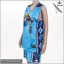 Top quality All over sublimation printing basketball jersey design