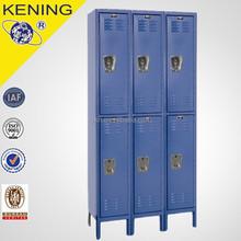 2 Tier Gray Steel Wardrobe Locker 3 Wide with 6 Opening