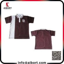 Free size customized men striped polo shirt