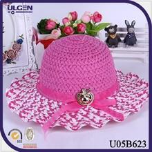 Straw Cap With Ribbon For Baby Children Beach Hat Child Straw Hat Girl Lovely Kids Girls Summer Beach Sun Visor