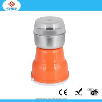 kitchen appliances mini dry food grinder / coffee grinder plastic housing body and stainless steel bowl