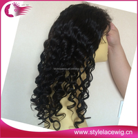 100% virgin brazilian human hair 180% density full lace wig with baby hair
