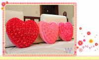good selling! rose heart shaped pillow cushion