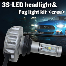 2015 Newest 3s led fog lamp, DC12-24V five colors 2200LM/bulb auto LED 9005 fog lamp, CE RHOS approval