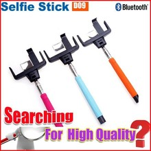 High profit margin products channel selfie stick with bluetooth shutter button D09 for smart phone