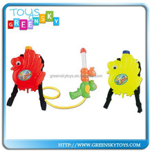 plastic duck toy water gun with backpack