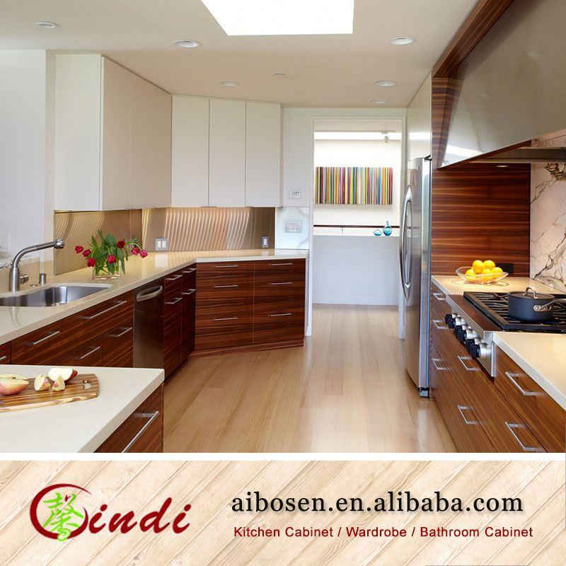 Housing custom made timber veneer kitchen cabinets high for Custom made kitchen cabinets cost
