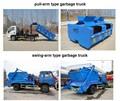 Roll off de basura colector 4*2 compactador de basura de contenedores,utiliza camión de la basura para la venta