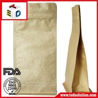 Personalized stand up kraft paper pouches aluminum foil laminated paper bags