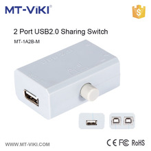 MT-1A2B-M 2 port manual usb sharing switch usb2.0 multiplateform support usb switch computer peripheral usb switch