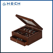 2015 Handmade Wood Jewelry Boxes for Women,Vintage Wooden Chest Jewelry Box with Mirror ,1 Drawer Dark Wood Jewelry Box