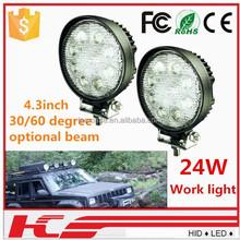 Waterproof 9~32v High Lumen Led Work Light 24w Offroad Led Spotlight Wholesale Led Worklight