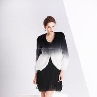 Popular mink fur jacket/ knitted mink fur coat for women