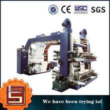 La certificación de la CE de alta velocidad de cuatro colores de impresión de flexo