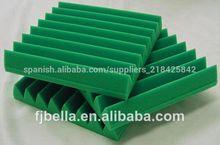Pirámide& cuña de espuma insonorizadas de absorción acústica paneles de espuma de color verde