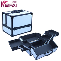 Double Open Function Cosmetic Travel Cases With 4 Trays