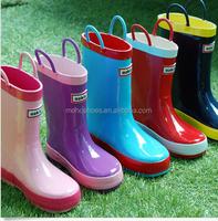 children's printed rubber rain boots