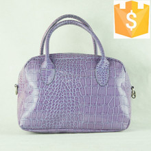 2015 new arrival PU soft leather purple pattern hand bag type toilet travel make up kit bag