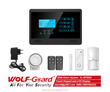 Wolfguard Multi-language available Android+IOS APP GSM home burglar security alarm, home safety GSM alarm -YL-007M2E