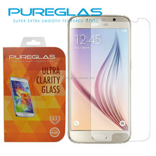 Factory supply MOQ 50 pcs for samsung galaxy S6 tempered glass screen protector