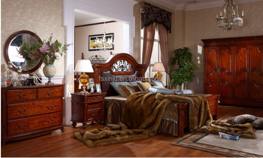 Top sale solid wood american bedroom furniture sets newest for Spring hill designs bedroom furniture