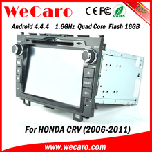 "Wecaro android 4.4.4 car radio Direct factory 8"" for honda crv car gps bluetooth radio Wifi&3G 2006 - 2011"