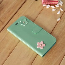girls cute stand Case For iPhone5,Sun Flower leather Pattern mobile phone Case with For iPhone5s