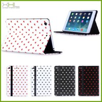 Stand sweetheart wallet pu leather cover for ipad air