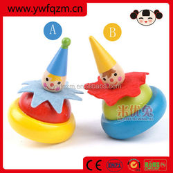 2014 Hot Sale Delicate Handmade Wooden Clown Gyro