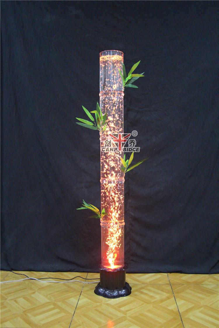 woonkamer bamboe ontwerpen geleid hars heeft bubble water kolommen ...