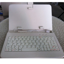 11.6 inch tablet pc leather keyboard case for ipad