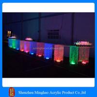 New design plexiglass acrylic led bar tables/led acrylic tables