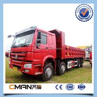 howo 8x4 371hp big sinotrucks 12 wheels 45 ton 40m3 dump truck