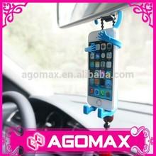colgar en el coche titular de accesorios divertidos multifunción de silicona teléfono móvil de suspensión