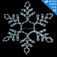 Shopping Mall Holiday Decoration Hanging Snowflake/ Christmas 2D Motif Snowflake Light