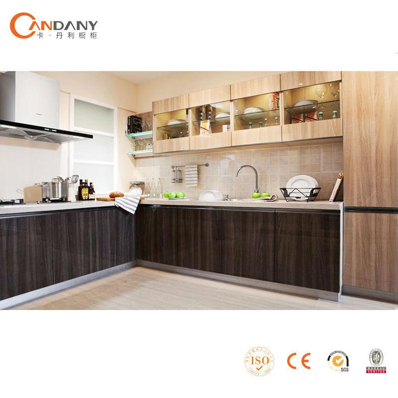 F cil instalado de acr lico del gabinete de la cocina de for Disenos de gabinetes para cocinas pequenas