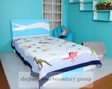 Best sale pure cotton super soft dinosaur printed baby quilt