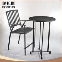 Hot sale home decoration antique imitation table and chairs wrought iron