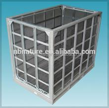 folding metal logistics platform rfoldable mesh box wire cage