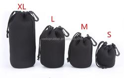 Camera Drawstring Soft Neoprene Waterproof Lens Pouch Bag Cover