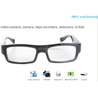 Real time recording video camera glasses