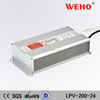 200w constant voltage waterproof led power supply 8.3a led driver 24v