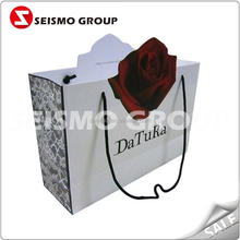 cheap small paper gift bags with handles automatic paper bag making machine
