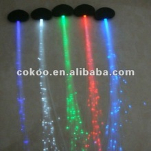 LED Braid Novelty Party Christmas Decoration Hair Extension LED Wig Clip Pony Tail Fibre Optic Colour Light